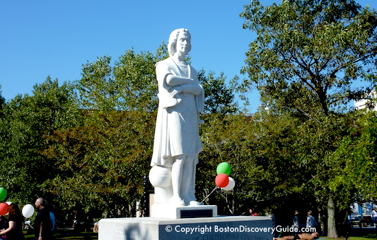 Christopher Columbus statue in Boston's North End