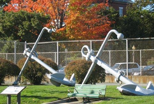 Anchors in Charlestown Navy Yard near Constitution Inn