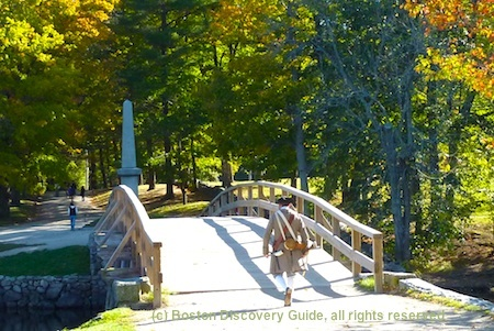 Popular day trips from Boston include Revolutionary War battle sites in Corcord, MA
