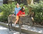 Donkey statue outside Old City Hall, Boston