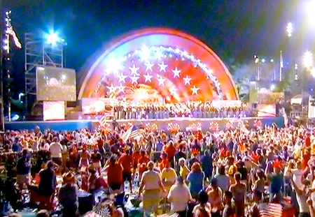 Hatch Shell during July 4th Boston Pops Concert