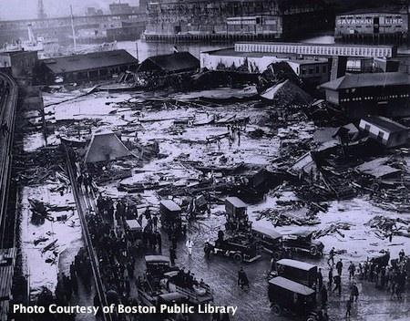 Boston's Great Molassas Flood - photo courtesy of Boston Public LIbrary