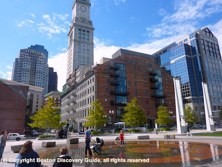 Photo of Ring Fountain at Rose Kennedy Greenway in Boston
