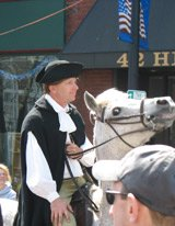 Reenactment of Paul Revere's ride - Medford stop