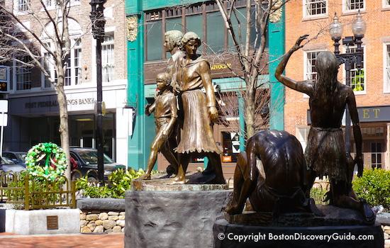 Irish Famine Memorial on St Patricks Day