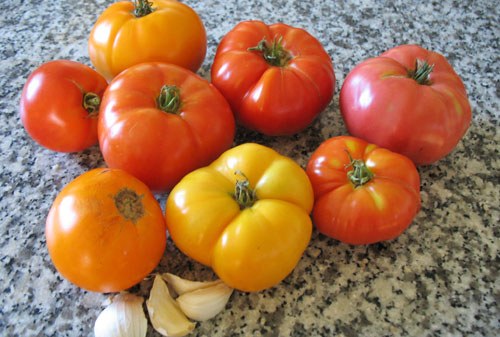 Tomatoes for marinara sauce recipe can be any color or type as long as they're fresh and ripe