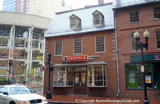 Old Corner Bookstore on Boston's Freedom Trail