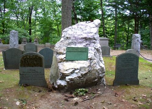 Photo of Ralph Waldo Emerson's gravestone in Sleepy Hollow Cemetery in Concord, Massachusetts / www.boston-discovery-guide.com