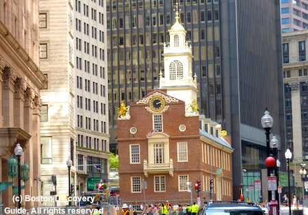 No Taxation without Representation was shouted here in Boston's Old State House