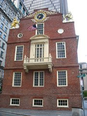 Old State House - Balcony where Declaration of Independance was read
