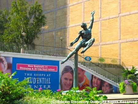 Photo of Quest Eternal statue by Donald DeLue outside Boston's Prudential Center