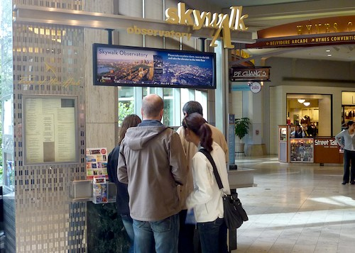 Photo of Skywalk Observatory kiosk in Prudential Center