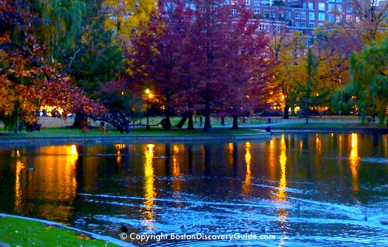 Boston's Public Garden in Autumn