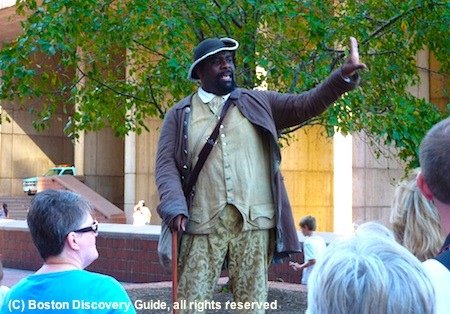 What to do in Boston for free - actor portraying Boston Massacre victim