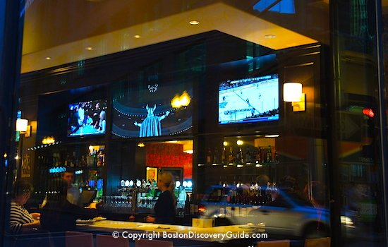 Bar at Salvatores, in Boston's Theatre District