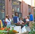 Boston South End neighborhood - sidewalk sale on Harrison St