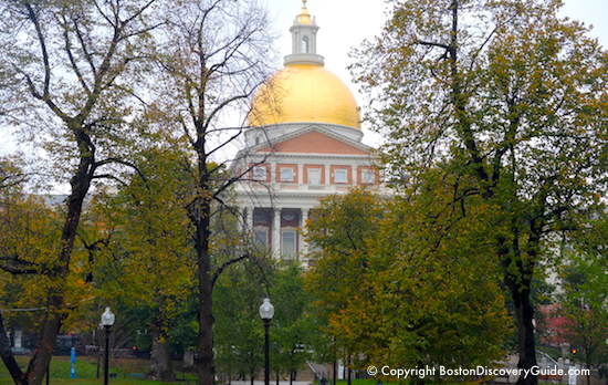 Massachusetts State House on Boston Common