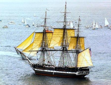 USS Constitution in Boston Harbor - Turnaround Cruise