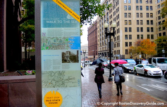 Walking down Boston's Tremont Street