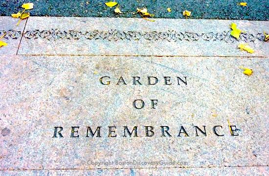 Garden of Remembrance in the Public Garden in Boston