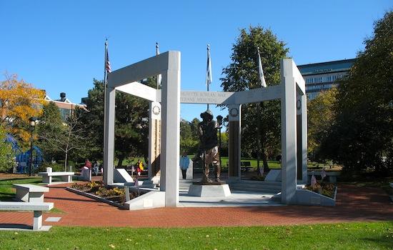 Korean War memorial in Charlestown