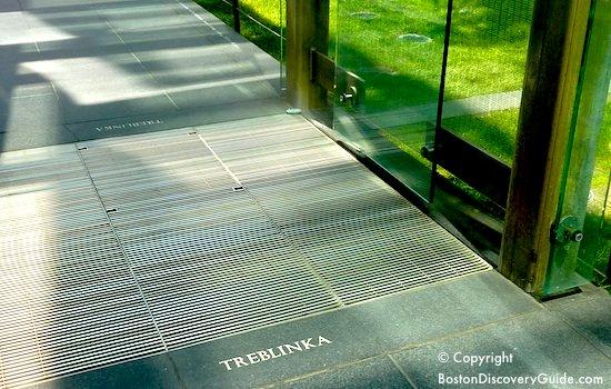 Treblenka engraving at Boston Holocaust Memorial