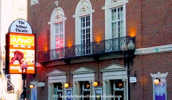 Photo of Boston's Wilbur Theatre, home of a popular comedy club.