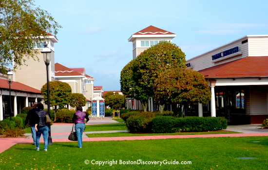 Green space at Wrentham Village Outlets