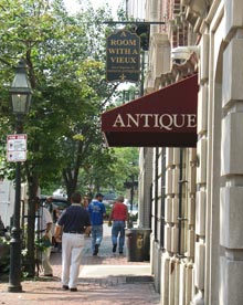Beacon Hill Antique Shop on Charles Street