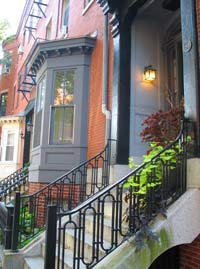 Renovated Victorian Entrance - Boston's South End