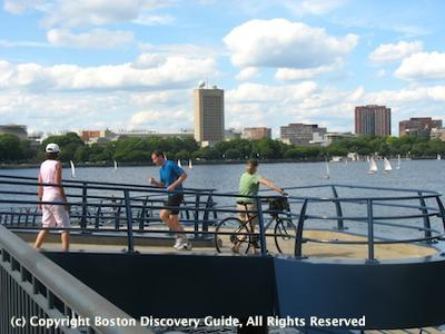 Mass Avenue Bridge Ramp to Boston Esplanade by Charles River