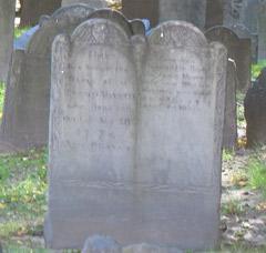 King's Chapel Burying Ground Gravestone