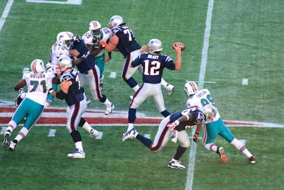 New England Patriots, playing at Gillette Stadium